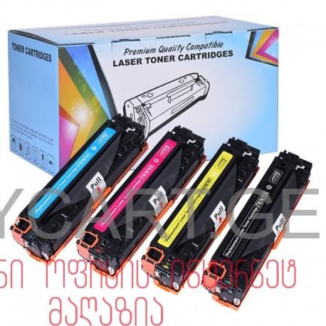 4 კარტრიჯი ( კომპლექტი) ფერადი კარტრიჯები 128a CE320A CE321A CE322A CE323A Compatible Color Toner Cartridge